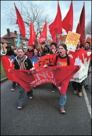 Youth Fight for Jobs demo in Barking, East London, photo Paul Mattsson
