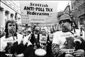 Poll Tax protests in Scotland 1989, photo Phil Maxwell