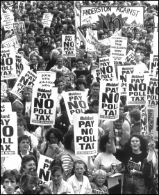 Anti-Poll Tax demonstration March 1990