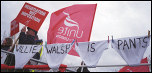 Picket line on British Airways cabin crew strike, photo Paul Mattsson