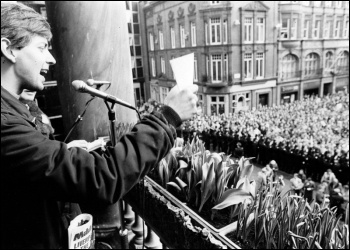 Socialist-led Liverpool city council's struggle in 1983-87 led to mass demonstrations and thousands of new council houses built, photo Dave Sinclair