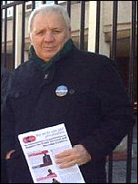 Mick Tosh, Trade Unionist and Socialist Coalition (TUSC) candidate , photo TUSC