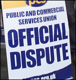 PCS strike placard