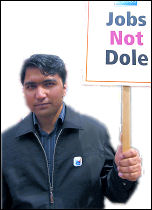 Jobs not dole - March for Jobs demonstration 2009, photo by Paul Mattsson