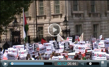 Video: Stop Israeli state terror: demonstration in London against the killings on the aid flotilla