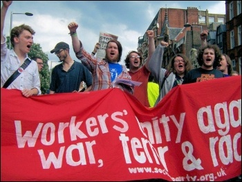 Youth Fight for jobs demonstrate against war, terror and racism