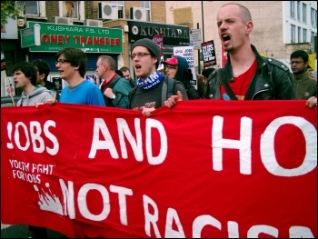 Anti-EDL demonstration in Tower Hamlets, photo East London Socialist Party
