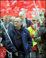 Jobs demo in Birmingham called by the Unite trade union