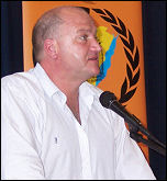 Bob Crow addresses NSSN conference 2007, photo by Dave Carr