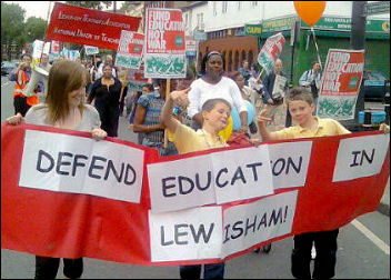 Lewisham demonstration against destructive school policies, photo Paul Mattsson