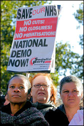 Calling for a national demonstration in 2006 - photo Paul Mattsson