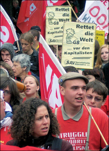 G8 demonstration in Rostock, Germany, photo Sarah Sachs-Eldridge