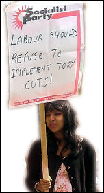 Coventry Against the Cuts demands that the Labour Party refuses to implement the cuts, photo Coventry Socialist Party