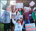 Portsmouth Socialist Students protesting against cuts, photo Portsmouth Socialist Students
