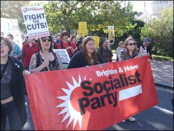 Brighton Socialist Party on the anti-cuts protest in Brighton