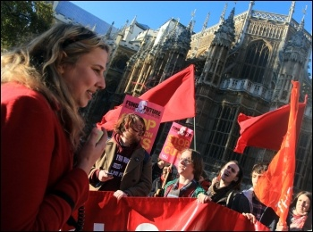 Massive student demo called by the NUS expresses anger against cuts, photo T.U. Senan