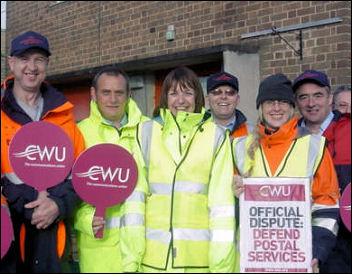 Postal workers on strike, photo Socialist Party