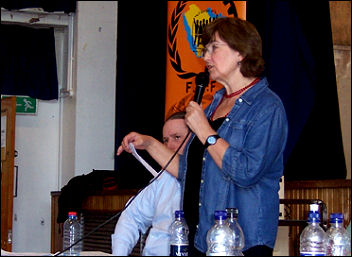 Linda Taaffe, at National Shop Stewards Network conference July 2007, photo Dave Carr