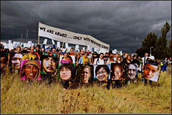 Heathrow airport runway protest, photo Marc Vallée
