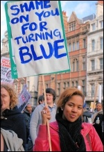 School and college students protest against higher tuition fees and education cuts, photo Suzanne Beishon