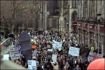 Newcastle student demonstration, photo Elaine Brunskill