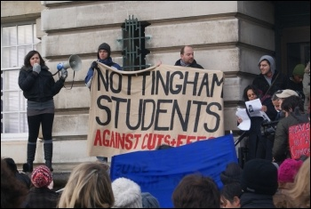 Nottingham University students occupy