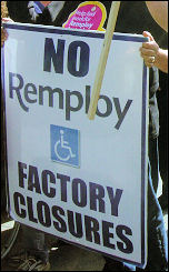 Remploy workers rally against closure threat (Sept 2007), photo Chris Moore