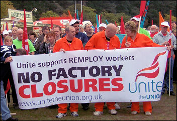 Remploy workers rally against closure threat, photo Bob Severn