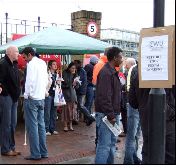 Postal workers on strike in 2007