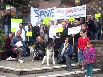 Charterhouse residents in Coventry win first stage of their fight to defend public land, photo Coventry  Socialist Party