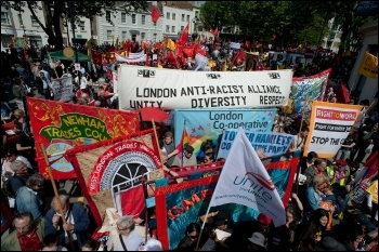 May Day 2011 in central London, photo Paul Mattsson
