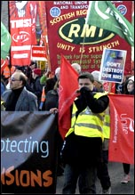 20,000 people marched through Edinburgh on 23 October 2010 on a demonstration against cuts organised by the Scottish TUC , photo by Ray Smith