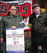 RMT and TSSA members strike against cuts on the London Underground , photo Paul Mattsson
