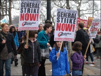 For a 24 hour public sector general strike now! Photo by Suzanne Beishon