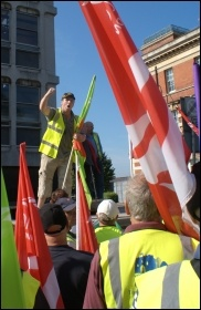 Demo last year in Southampton City Centre by striking Unite and Unison workers, including refuse, toll bridge and port health authority workers, amongst others, photo Andrew Howe