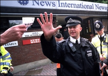 Cameron, the Murdoch empire and the police have been involved in a corrupt attempt to subvert the democratic rights of the British people, photo Paul Mattsson