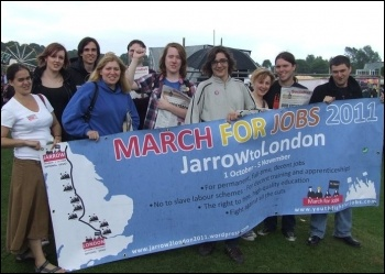 Support for Jarrow March at the Durham Miners' Gala