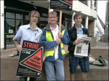 Picketing in Coventry, BBC NUJ strike 1.8.11