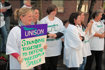 Manchester mental health workers on strike, photo Christian Bunke