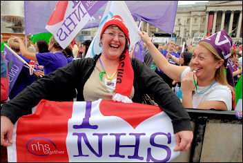 On the 'Save the NHS' march, 3 November 2007 , photo Paul Mattsson
