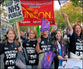 NHS demonstrations November 2007., photo Paul Mattsson
