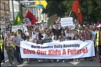 Hackney and Tottenham demonstration after the August riots, photo Paul Mattsson