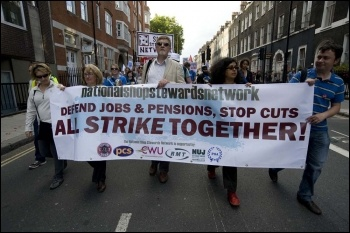 NSSN march to Congress House, 11 Sept 2011, photo Paul Mattsson
