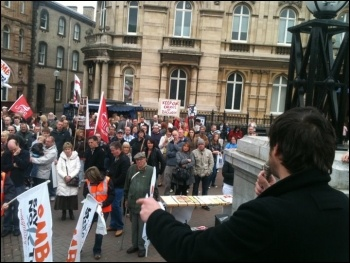 700 strong march in Hull with Youth Fight for Jobs Jarrow Marchers and workers from BAE in Brough., photo Paul Callanan