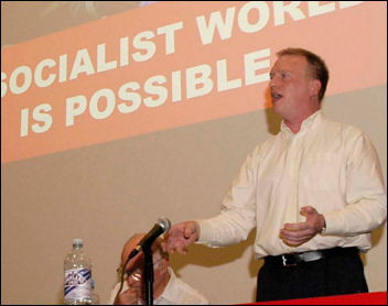 Matt Wrack, FBU General secretary, speaks at Socialism 2005, photo Paul Mattsson