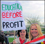 Cardiff parents beat council cuts in 2006. Picture: Socialist Party Wales