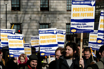 PCS on strike in February 2007, photo Paul Mattsson