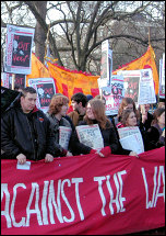 Youth Against the War on the Feb 24 2007 anti-Trident demo, photo Pedro