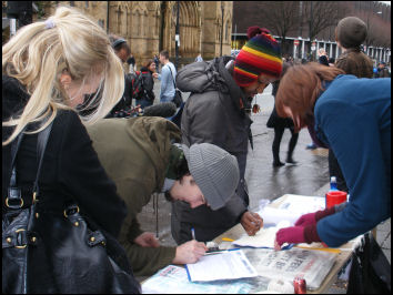 Socialist Students in Manchester on the Campaign to Defeat Fees day of action, photo Abby Taylor