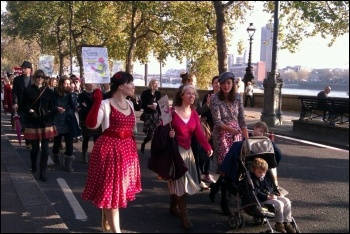 1500 marched on the Fawcett Society demonstration 19 November to tell the government